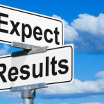 Sign saying expect results