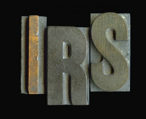 Big letter stamp IRS