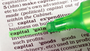 highlighter over capital gain defined
