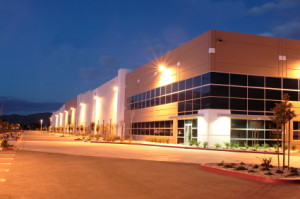 night time office complex