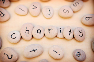 rocks together spelling charity