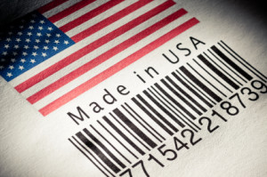 bar code saying made in usa