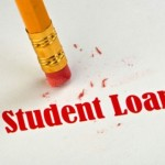 paper saying student loans in red