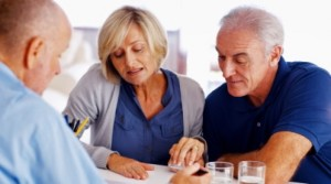 couple looking at healthcare plans